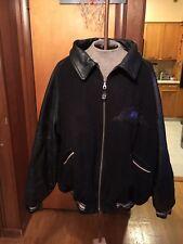 Vintage Avirex 4xl Mens Black Leather Sports Varsity Jacket Very Nice