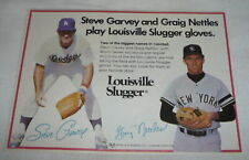 1982 Louisville Slugger baseball gloves ad ~ STEVE GARVEY, CRAIG NETTLES