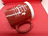 Christmas Gingerbread Baking Company Large Mug Santa Red And White
