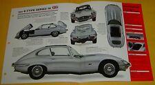 1972 Jaguar E Type Series 3 S3 Coupe V12 5343cc 250 hp IMP Info/Specs/Photo 15x9