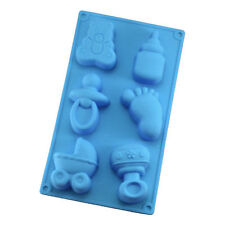 6 Cavity Silicone Base Chocolate Cookie Mould Baking Ice Cube Jelly Cake Baby