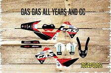 GAS GAS EC 125 250 450 98-2016 RED FULL GRAPHICS KIT-STICKER KIT-DECALS-GAS GAS
