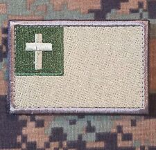 CHRISTIAN FLAG USA ARMY INFIDEL CRUSADER MULTICAM VELCRO® BRAND FASTENER PATCH