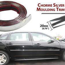 20mm x 6M Car Styling Window Bumper Chrome Moulding Trim Strip Surface Protector