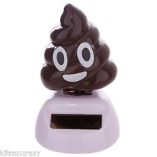NOVELTY SOLAR POWERED EMOTIVE POOP, DANCING POO, DASHBOARD TOY, HOME OR CAR