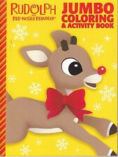 Christmas Rudolph the Red-Nosed Reindeer Coloring Book ~ Rudolph with Bow