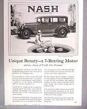 Nash Sedan PRINT AD - 1927 ~~ car, automobile, auto, motorcar