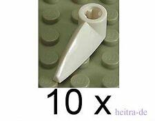 LEGO - 10 x Zahn / Zähne 1x3 weiss mit Achsloch / White Tooth / x346 NEUWARE