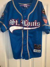 NLBM St Louis Stars #17 Negro League Baseball Jersey Blue Size Adult Large