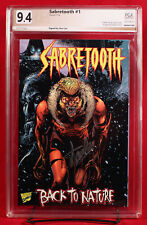 SABRETOOTH #1 PGX 9.4 NM Near Mint BACK TO NATURE signed STAN LEE!!! +CGC!!!