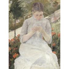 Mary Cassatt Girl In The Garden Canvas Art Print Poster