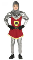 Boys Kids Medieval Knight Costume Fancy Dress Book Week Outfit New Age 3-12