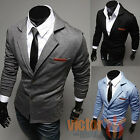 Mens Formal Slim Fit Wedding Business Tuxedos Two Buttom Blazer Jacket Outwear