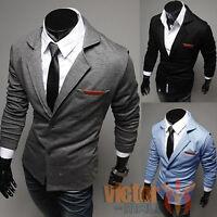 Mens Blazer Suit Jacket Adults Fashion Designer Smart Slim-Fit Blazers Coat Tops