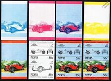 1947 M.G. / MG TC Car Stamps (1984 Nevis Progressive Proofs / Auto 100)