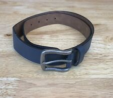 Goodfellow & Co Target Mens Navy PU Bonded Leather Belt Silver Buckle M 32-36