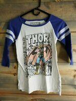 Marvel - Womens, Thor Comic Book Baseball Jersey, 3/4 Sleeve T-Shirt, SZ Medium