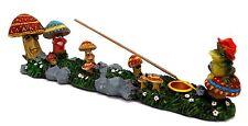 Mushroom Family Incense Burner Stick Cone Candle Holder Frog Shroom Boat Burner