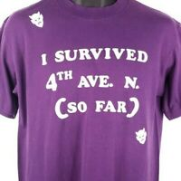 I Survived 4th Ave N T Shirt Vintage 80s Nashville Tennessee Made In USA Large