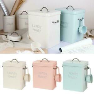 Waschpulver Eimer Box kann 3 kg Aufbewahrungsbox tragen Löffel gleichen T3Y5