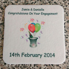 Personalised Beer Mats Coasters BIRTHDAY WEDDING STAG HEN ENGAGEMENT GIFT PACKS