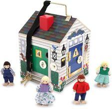 Melissa & Doug Sonnette Maison Enfant Marionnettes Poupées semblant jouer avec clés BN