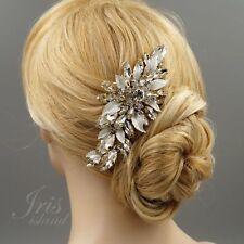 Bridal Hair Comb Crystal Headpiece Hair Clip Wedding Accessory 09953 Gold Flower