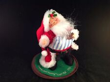 Annalee Doll Society Logo Kid Santa with Cookie 1994 8 Inches Tall