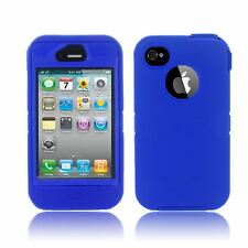 Heavy Duty Case Workman Builder Cover Shock Impact Proof Protect For iPhone 4S 4