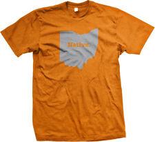 Native Ohio Buckeye State Pride Columbus Cleveland Cincinnati Akron Mens T-shirt