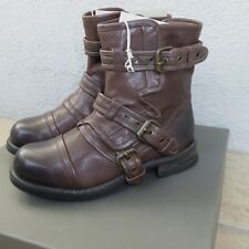 UGG Collection Elisabeta Ash Moto Italian Leather Boots 5.5US New In Box