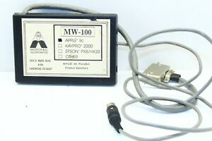 Vintage Micro R&D Inc MW-100 Serial to Parallel Printer Interface for Apple IIc