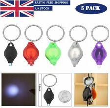 5x Mini Bright Flashlight LED Light Torch Keyring Keychain Camping Hiking UK