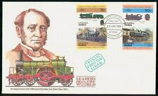 Mayfairstamps Tuvalu FDC 1984 Locomotive Combo Sir Daniel Gooch First Day Cover