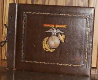 WWII US MARINE CORPS USMC ENLISTED SERVICEMAN'S PHOTO ALBUM 81 PHOTOS VINTAGE