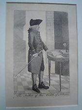 ENGRAVING portrait of economist ADAM SMITH ! Wealth of Nations engraved Ray 1790