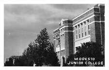 Modesto California Junior College Real Photo Antique Postcard K90310