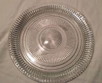 "12"" Round Glass Serving Dish Platter"