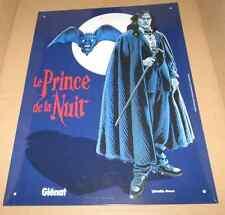 2000 Swolfs Plaque métallique PRINCE DE LA NUIT Glénat 30x40 cm série limitée