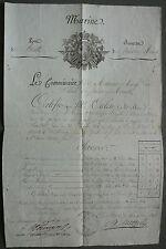 MARINE. Certificat Grade Artillerie de Marine. Grande Armée de 1807 à 1814.