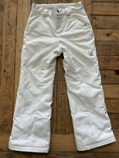 #12 White Childrens Ski Snow Pants by Spyder Sz: 10