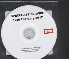 Specialist Service 13th February 2012 CD