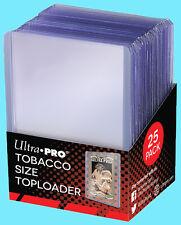 25 ULTRA PRO TOBACCO SIZE CARD TOPLOADERS Trading Sport Allen Ginter Mini Cigar
