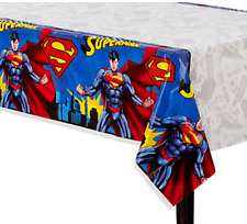 Super Man Plastic Table Cover Boy Birthday Party Supplies Dc Hero Justice League