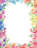 """Great Papers! Bright Floral Letterhead, 80 Count, 8.5""""x11"""" (2014333)"""