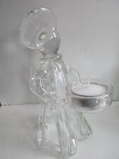 AN UNUSUAL AMELIA GLASS ANGEL TEA LIGHT HOLDER 15cm BOXED IDEAL GIFT