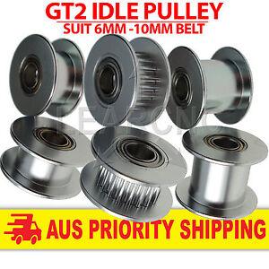 GT2 Pulley Idler 6mm 10mm Belt 3mm 5mm Idle Bearing 16T 20T  RepRap 3D Printer