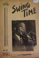 Swing time. Revue mensuelle du jazz. N° 27 - Août/Septembre 1953. RARE.