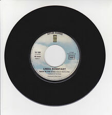 Linda RONSTADT Vinyl 45T BACK IN THE USA Berry WHITE RHYTHM BLUES -ASYLUM 13133