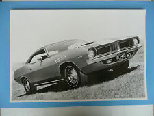 "1972 Plymouth Barracuda 2 Door Hardtop 12 By 18"" Black & White Picture"